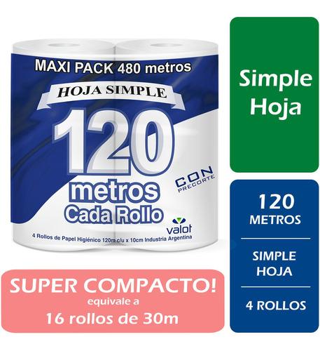 papel higienico valot extra blanco hoja simple 4 x 120m 19g