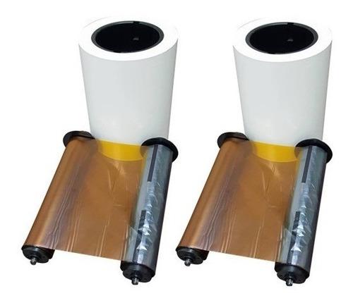 papel hiti p510 15x20 - cx c/ 2 rolos + 2 ribons