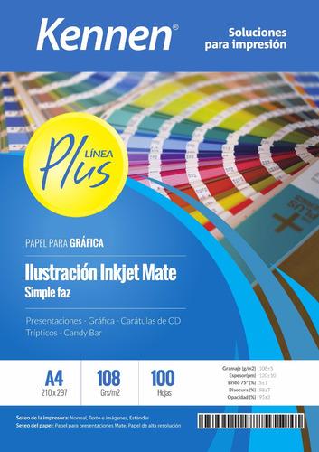 papel ilustración inkjet mate 108gr a4 100 hojas