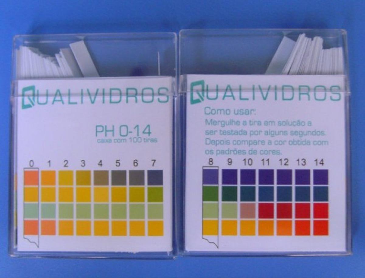 Papel Indicador De Ph 0-14 - Caixa Com 100 Tiras - R  31 9be1c00554496