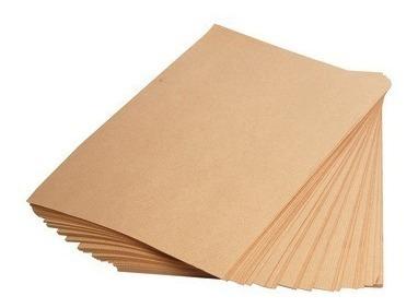 papel kraft liso fosco a4 - 240g/m2 com 100 folhas