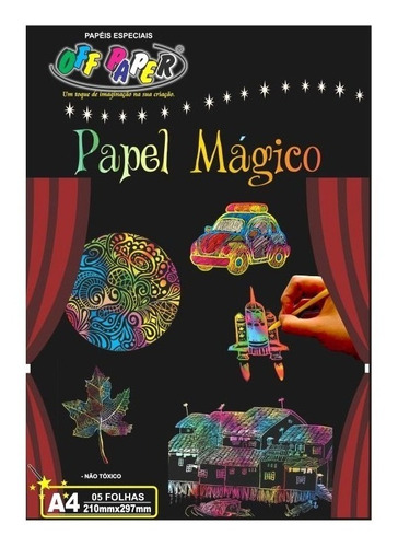 papel mágico a4 5 folhas com bastão off paper
