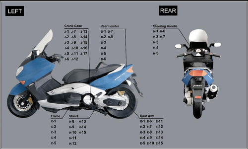 papel modelismo 3d - yamaha tmax