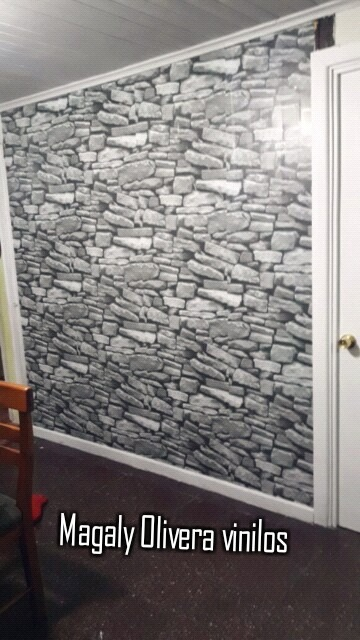 Papel Mural Piedra 3d Con Adhesivo En Mercado Libre