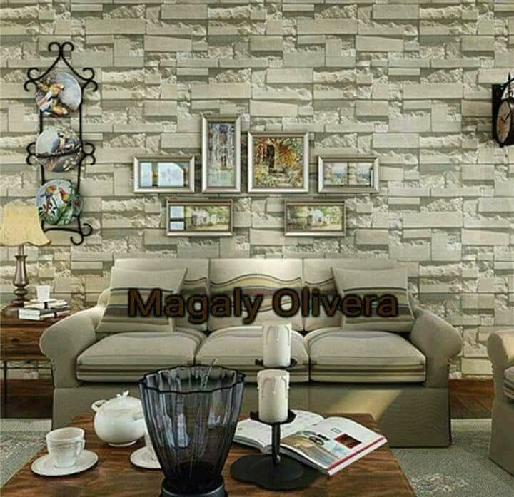 Papel mural piedra 3d con adhesivo dise os for Donde venden papel mural