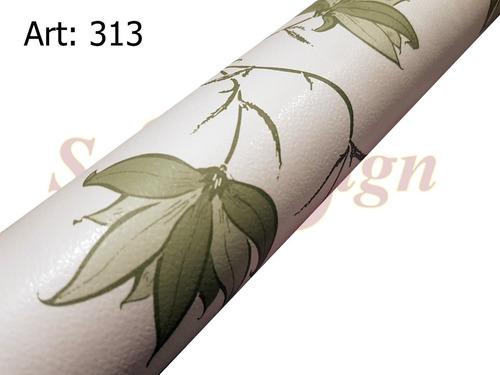 papel muresco vinilizado amarie flor verde 313 soul