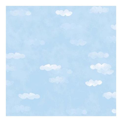 papel muresco vinilizado cuentos nubes celeste 78041 soul