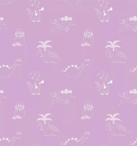 papel muresco vinilizado dinosaurios lila 99232 soul