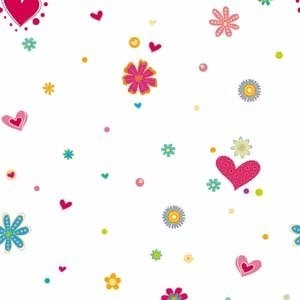 papel muresco vinilizado hashtag corazones 99251 rollo x 6ml