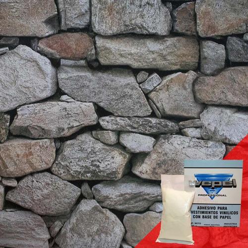 papel muresco vinilizado zen 34711 piedra adhesivo gratis