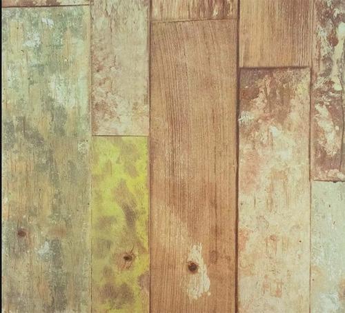 papel muresco vinilizado zen 3472-1 madera rustica