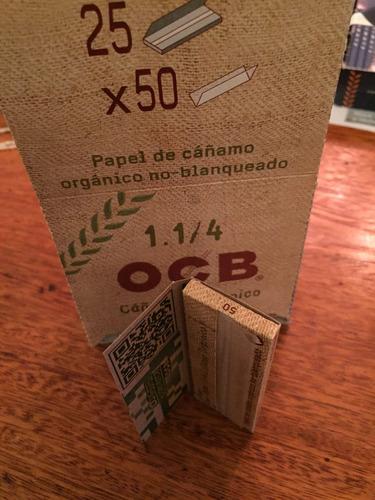 papel ocb cañamo organico -papel para armar-  1.1/4 largo