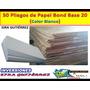 Papel Bond Blanco Base 20 (combo De 50 Unidades)