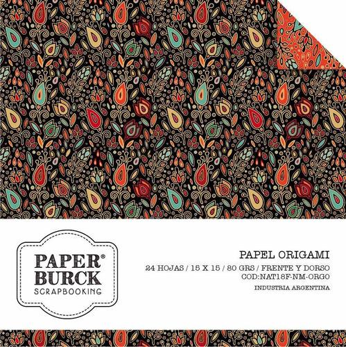 papel origami 15x15 frente y dorso florales