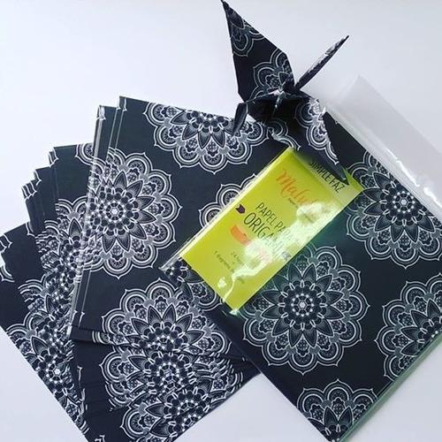 papel origami  malula 15 x 15 cm blancos y negros