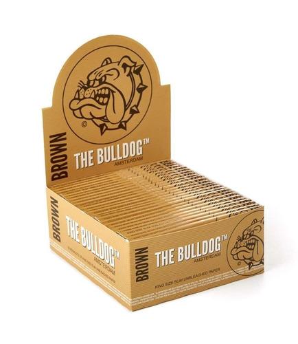 papel para fumar the bulldog paper brown kss / display