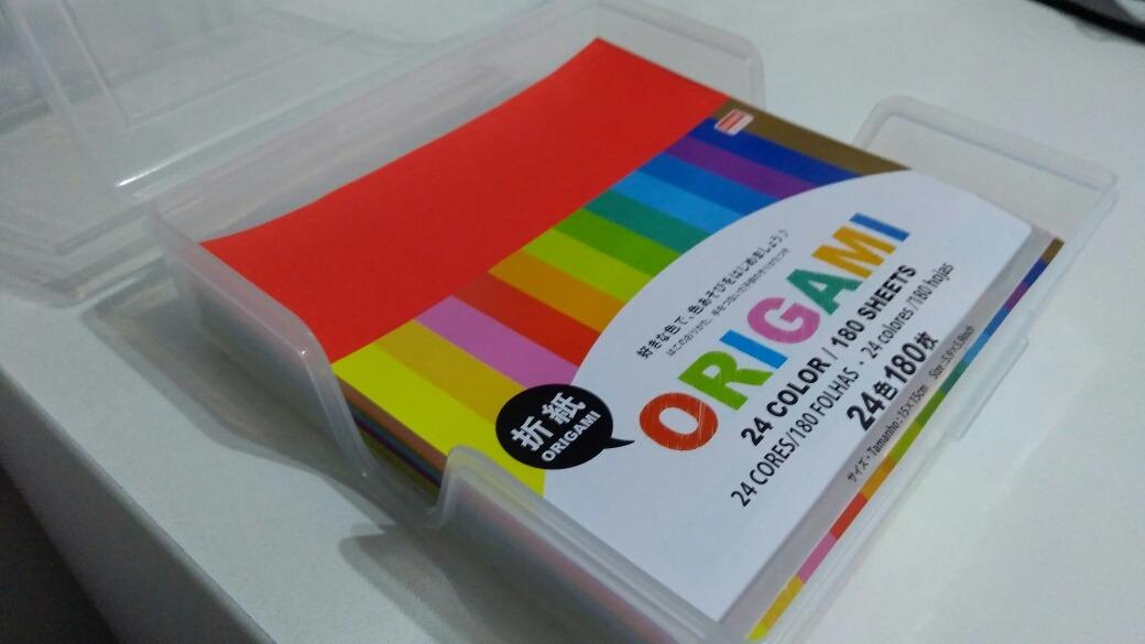 Papel Para Origami Caixa Para Origami Original Daiso R 3000