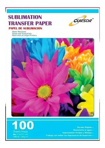 papel para sublimacion premium a4/100hojas.envio gratis x5un