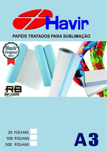 papel para sublimação a3 fundo azul pacote 500 folhas havir