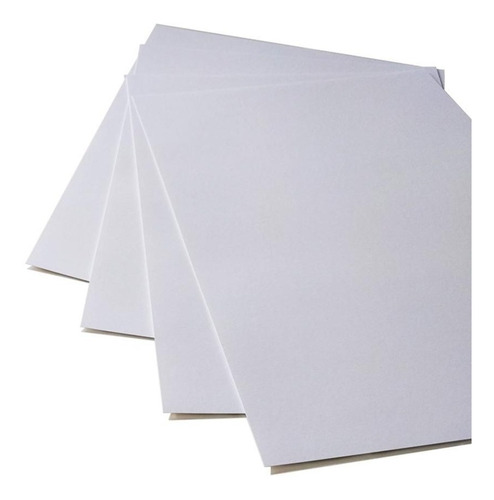papel para tarjetas opalina lisa blanca 210gr 100h oficio