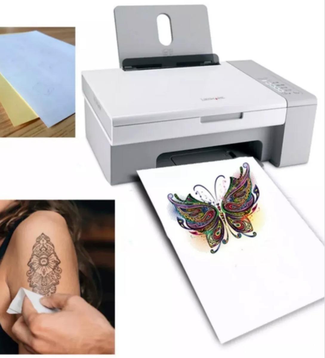 Tatuaje De Transferencia De Papel 5 Hojas A4 Para Hacer Falso Tatuajes