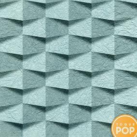 276feb42d Papel De Parede Pedra 3d Azul Kit 6rolo 2