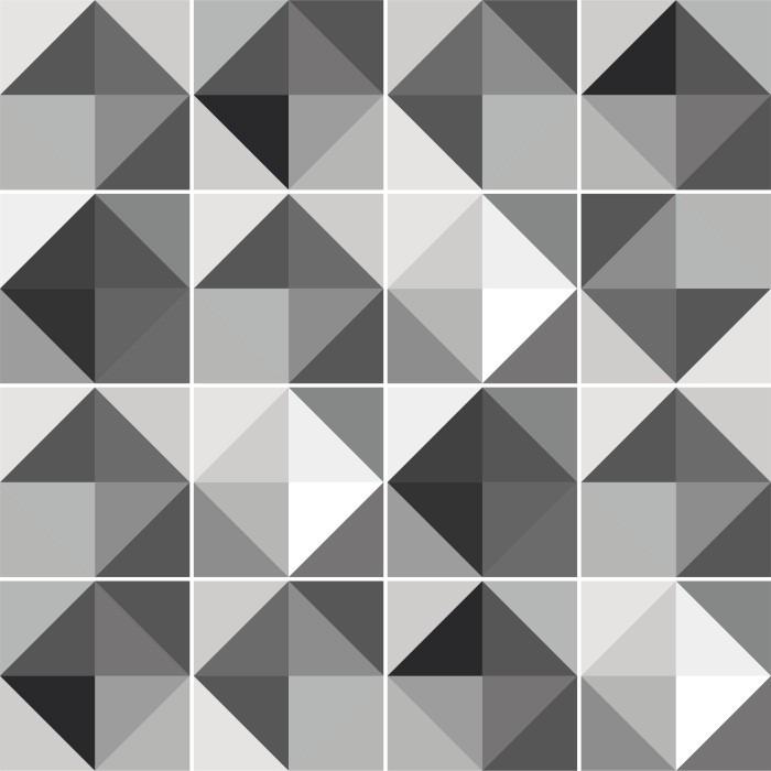 Artesanato Sergipano ~ Papel Parede Adesivo Azulejo Geometrico Cinza Preto R
