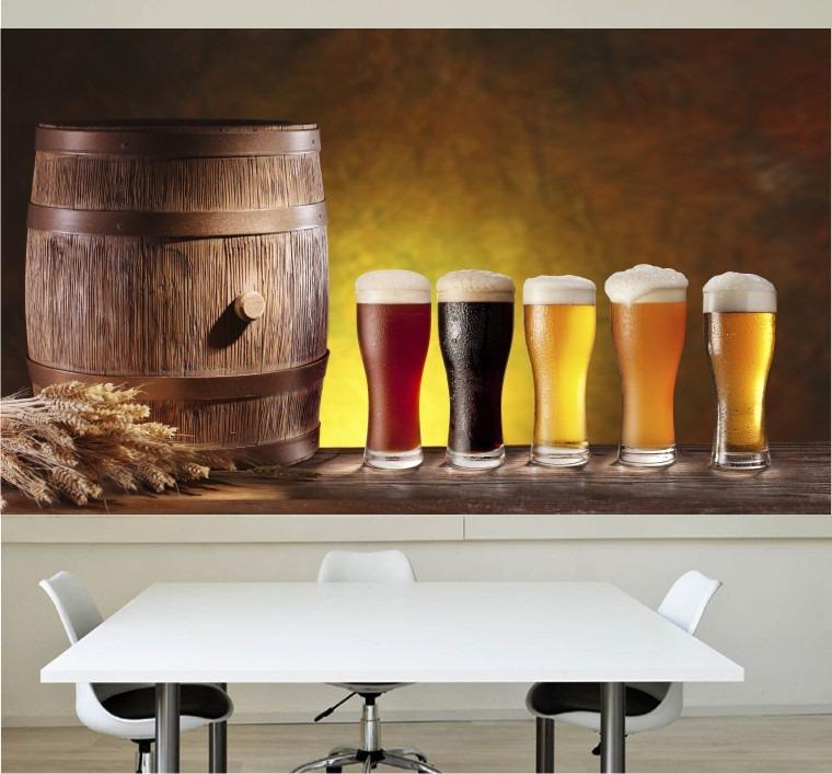 Armário Para Cozinha Em Inglês ~ Papel Parede Adesivo Cerveja Cozinha Churrasqueira Bar M12 R$ 99,00 em Mercado Livre