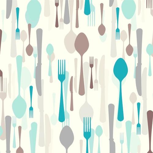 papel parede adesivo gourmet cozinha talheres food colher