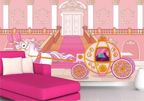 papel parede adesivo infantil menina princesa cinderela m42