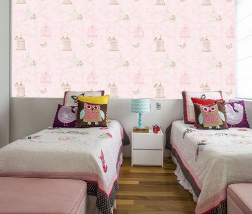 papel parede adesivo para quarto de meninas cod ad 07