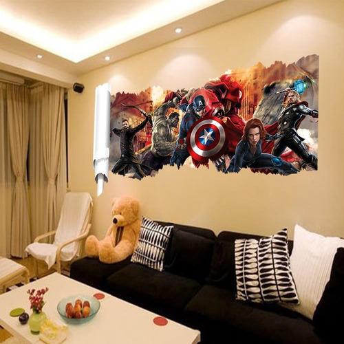 papel parede adesivo vingadores ultimato thor capitão hulk