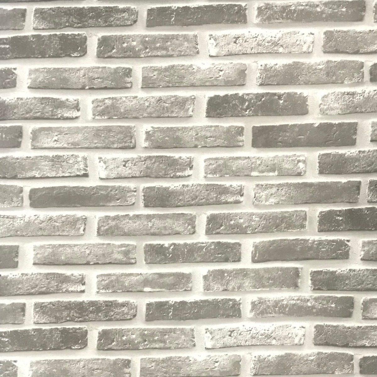 9991e909e papel parede adesivo vinil 3d tijolo aparente cinza vintage. Carregando  zoom.