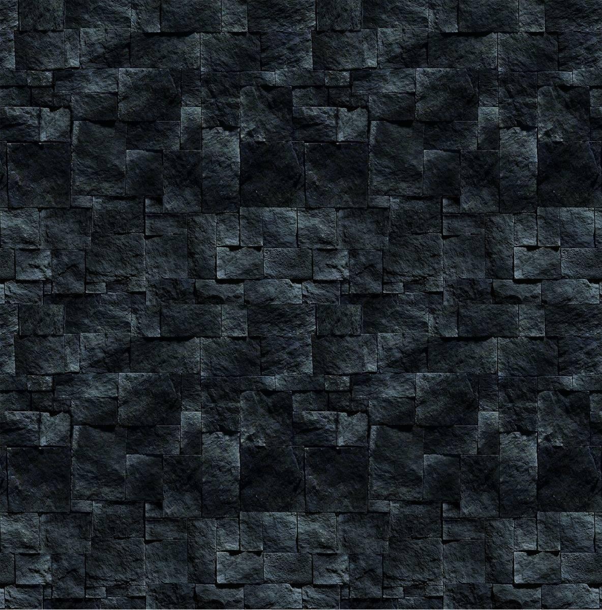 Papel Parede Aspecto Pedra Ferro Preta Adesivo Vin 237 Lico