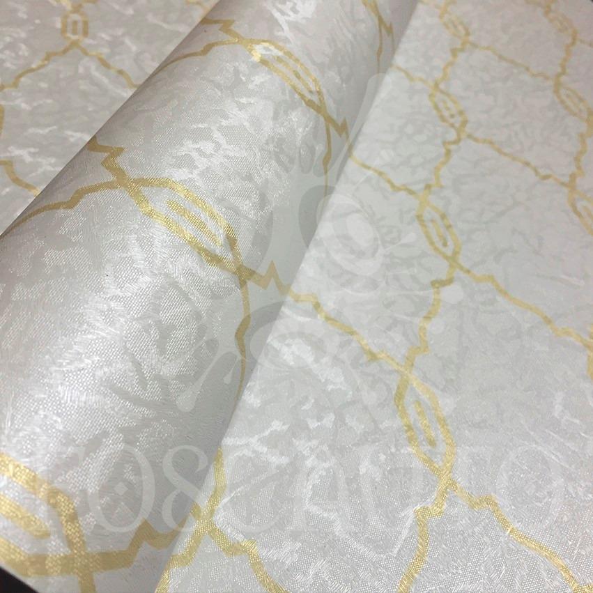 Adesivo Idoso Detran Mg ~ Papel Parede Auto Adesivo Branco C Dourado Ouro 5m X 1m R$ 385,00 em Mercado Livre