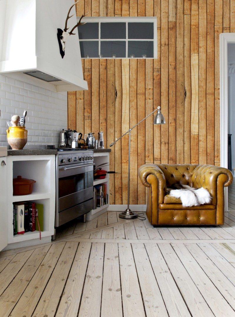 Papel parede auto adesivo vinilico imita madeira r 179 - Vinilico para paredes ...