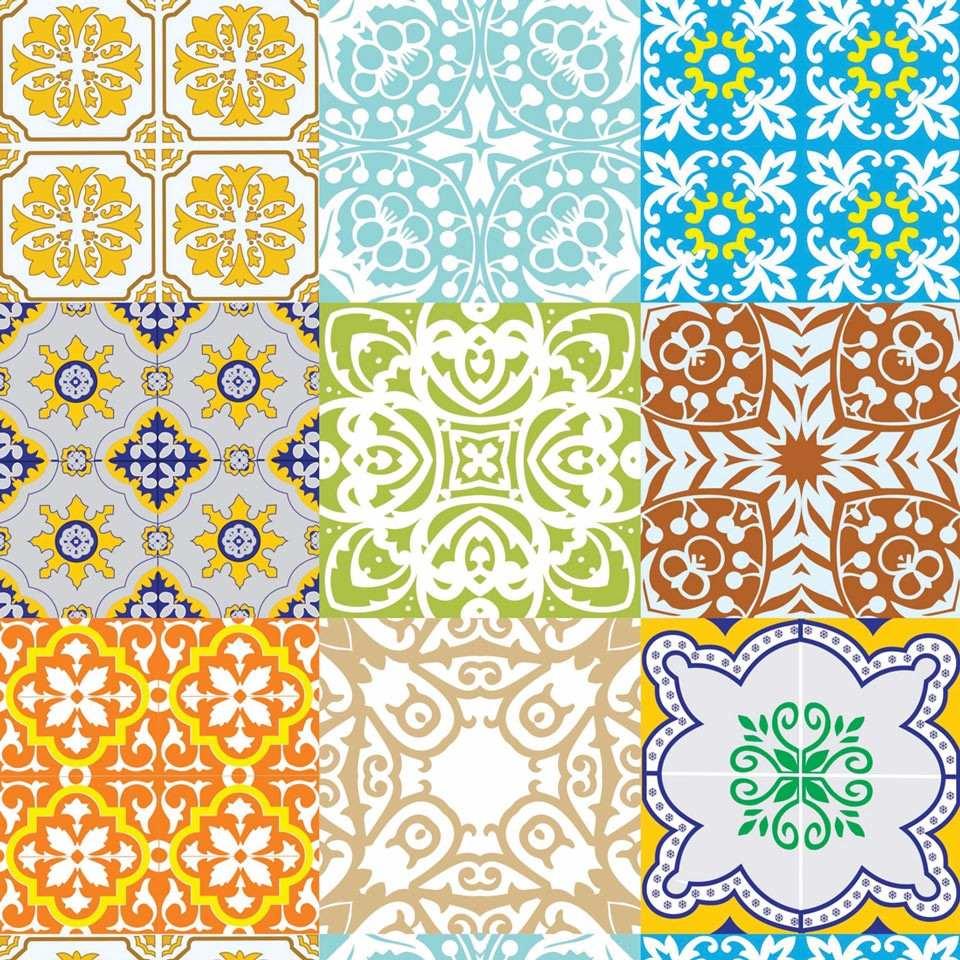 Papel parede azulejo portugu s cozinha contact adesivo for Papel adhesivo para azulejos