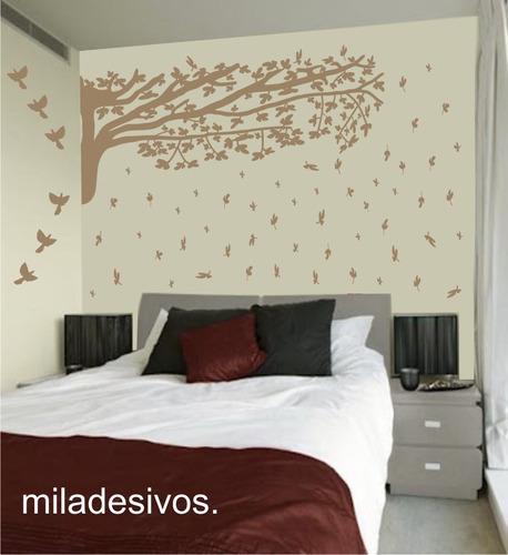 papel parede decoração galho árvore folha caindo + brinde