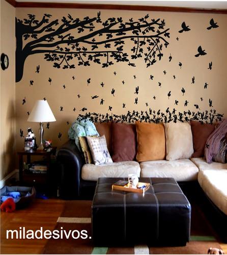 papel parede decoração galho árvore folha caindo frete gráts