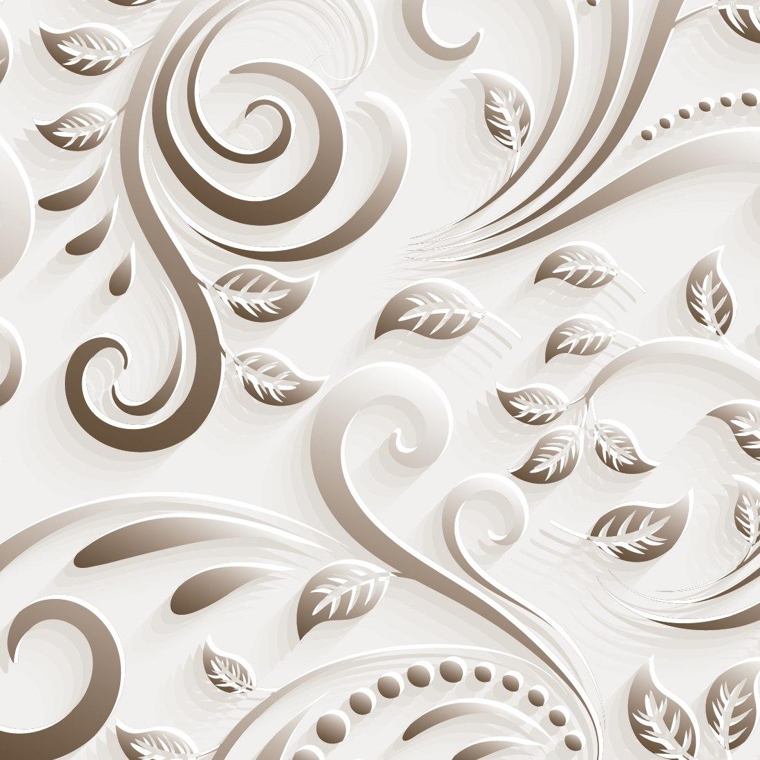 Papel parede floral efeito 3d v rias cores 103x305cm r 148 50 em mercado livre - Papel para revestir paredes ...