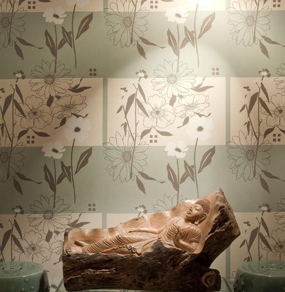 Papel parede harmonia vin lico bobinex 10mx53cm cola - Vinilico para paredes ...