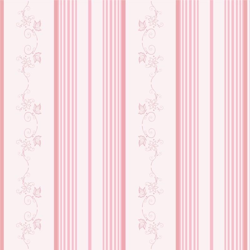 Papel de parede floral infantil menina alto colante for Papel vinilico infantil