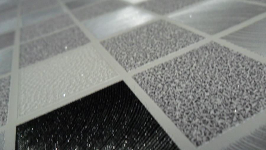 Papel parede pastilha 3d alto relevo cozinha azulejo cinza r 239 00 em mercado livre - Papel vinilico para paredes ...