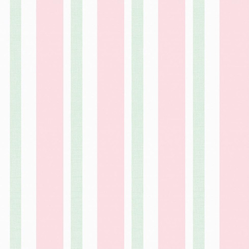 papel parede quarto menina listrado rosa verde listas grande