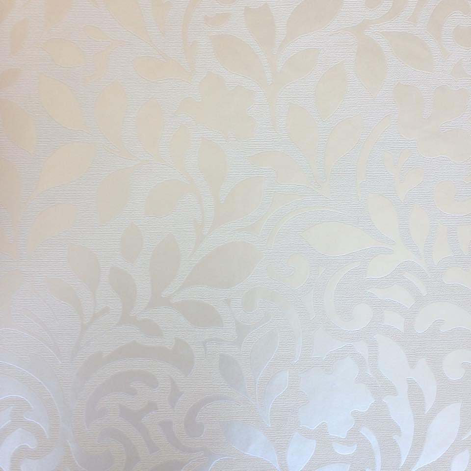 Papel parede space vinilico arabesco creme brilho metalico - Papel vinilico para paredes ...