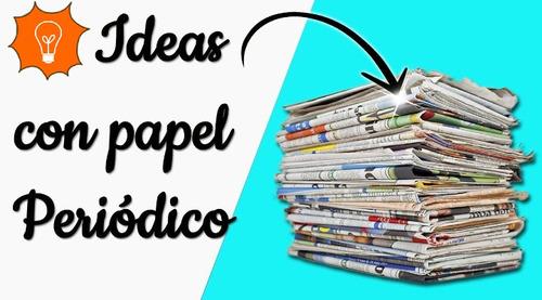 papel periodico de reciclaje para su mejor uso