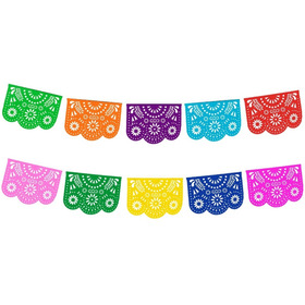 Papel Picado - Enramada Destello Floral Papel