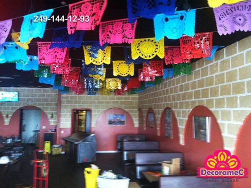 papel picado baby shower 50m papel china