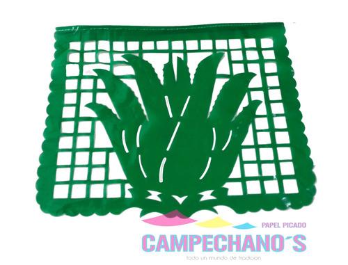 papel picado enramada plastíco  fiestas mexicanas