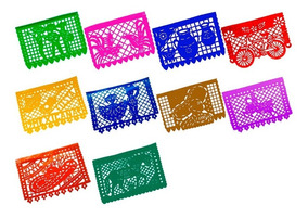 Papel Picado Fiesta Mexicana Multicolor